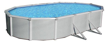 Asahi Pools Samoan Oval Above Ground Pool 52 Deep with 8 Top Rail
