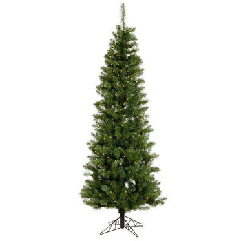 Vickerman Company Vickerman Salem Pencil Pine 4.5 with 90 Warm White LED Lights
