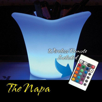 Main Access Illuminate Your Life Napa Waterproof LED Ice Bucket