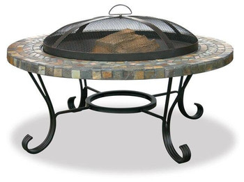 Uniflame Uniflame Slate Tile and Copper Firebowl Fire Pit