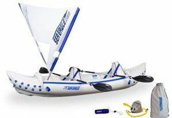 Sea Eagle Sea Eagle 330 Inflatable Kayak Includes QuikSail Seats Paddles and Pump