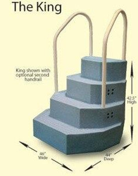 Merlin Merlin King Aqua StairCase Blue Granite with two Handrails