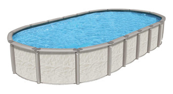 Wilbar International Azor Resin Above Ground Oval 54 Deep Pool Package