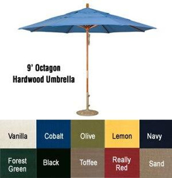 Wood Octagon Umbrella