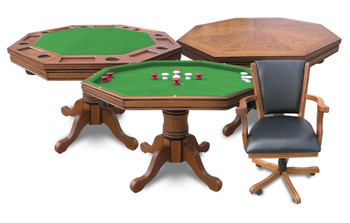 Carmelli Games and Sports Kingston 3 in 1 Poker Table
