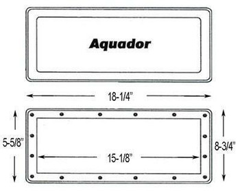 Aqua Group Inc Aquador IG Wide Mouth Skimmer Winterizing Faceplate
