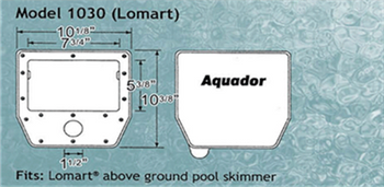 AquaDor Aquador 1030 for Lomart Above Ground Pool Skimmers