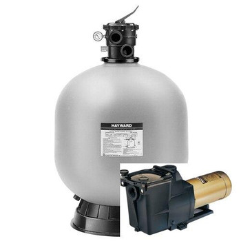 Hayward Hayward W3S244T Sand Filter and Hayward Super pump 1.5 HP