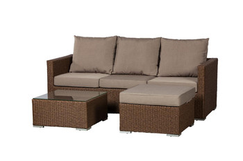 Well Traveled Living Dorsey Wicker Sectional Set