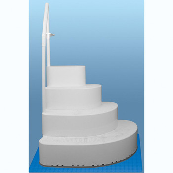 Blue Torrent Wedding Cake Step in a Box with Single Handrail