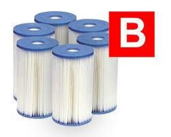 Intex Intex Filter Type B Cartridge 6 Pack