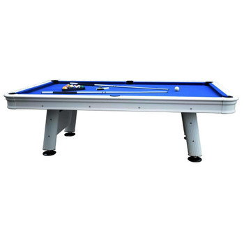 Blue Wave Alpine 8-ft Outdoor Pool Table with Aluminum Rails and Waterproof Felt