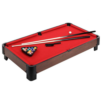 Blue Wave Striker 40-in Table Top Pool Table - Red