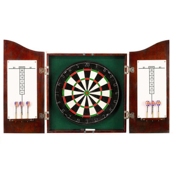 Blue Wave Centerpoint Solid Wood Dartboard and Cabinet Set