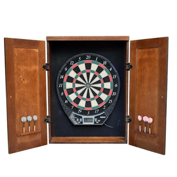 Blue Wave Brookline Electronic Dartboard Cabinet Set