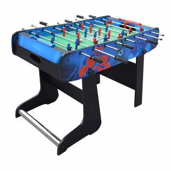 Blue Wave Gladiator 48-In Foosball Table for Kids with Easy Folding for Storage, Robot Graphics, Ergonomic Handles