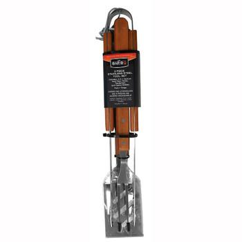 Mr Bar-B-Q Mr Bar-B-Q 3 Piece Wood Handle Tool Set