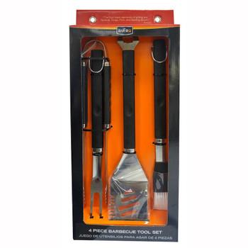 Mr Bar-B-Q Mr Bar-B-Q 4 Piece Stainless Steel Tool Set