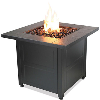 Endless Summer LP Gas Outdoor Fire Table with Stamped Tile Design