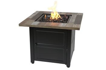 Endless Summer The Cayden 30 LP Gas Outdoor Fire Pit with Printed Resin Mantel