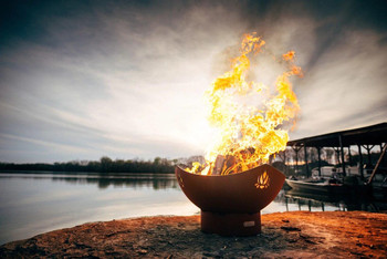 Fire Pit Art Namaste Fire Pit