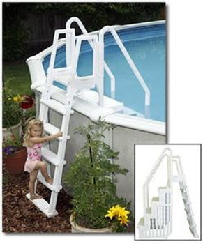 Blue Wave Easy Pool Step with Outside Ladder by Blue Wave