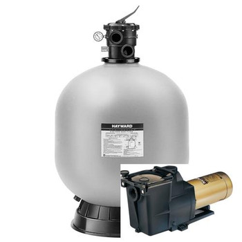 Hayward Hayward W3S244T Sand Filter and Hayward Super pump 1 HP