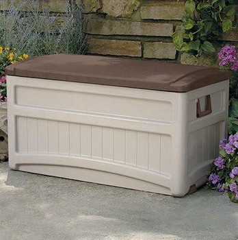 Suncast Taupe Portable Poolside Storage Box