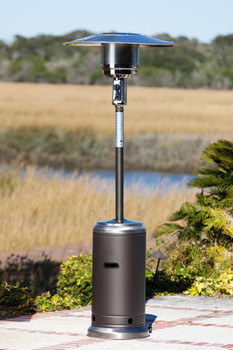 Well Traveled Living Garden Sun Patio Heater Mocha and Stainless