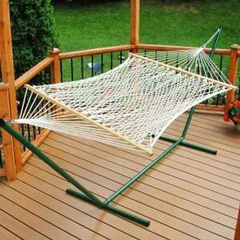Algoma Net Rope Hammock and Stand Combo