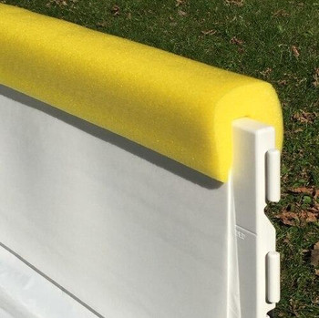 NiceRink Ice Rink Yellow Bumper Caps 4 Ft Long