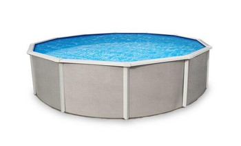 Asahi Pools Belize Round Above Ground Swimming Pool 52 Deep with 6 Top Rail