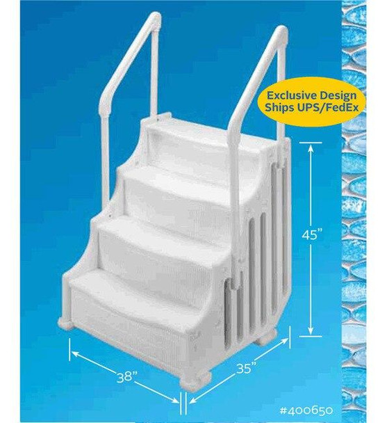 Ocean Blue The Mighty Step 38 Above Ground Pool Steps 400650