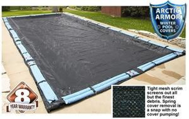 Arctic Armor Arctic Armor Rugged Mesh Winter Inground Cover for 18x36 Rectangle Pool