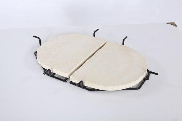 Primo Grills and Smokers Primo Grill Ceramic Heat Reflector Plate for Oval Junior