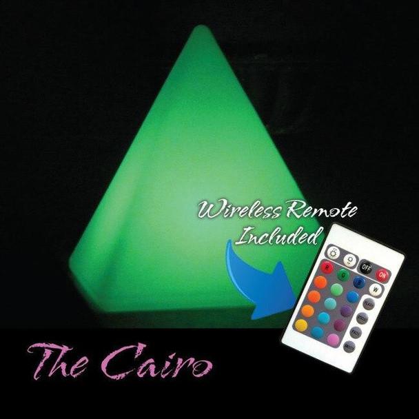 Main Access Illuminate Your Life Cairo Waterproof LED Pyramid Light