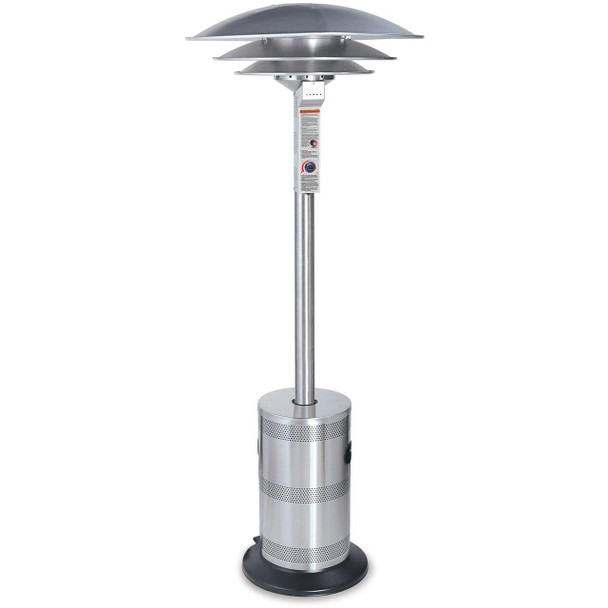 Uniflame Endless Summer Stainless Steel Triple Dome Commercial LP Patio Heater