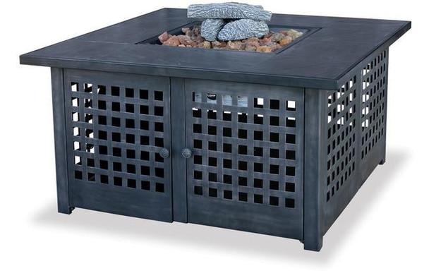 Uniflame Uniflame LP Gas Outdoor Firebowl with Tile Mantel