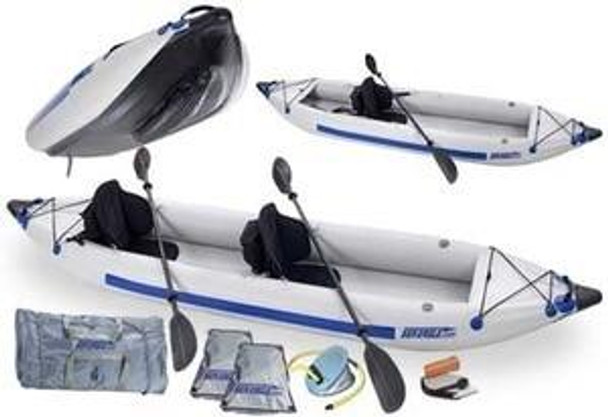 Sea Eagle Sea Eagle 385ft 12.6ft Inflatable 2 Person Kayak Pro Package