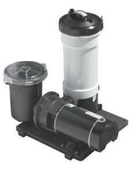 WaterWay WaterWay 520-4010 TWM Above Ground 50 Sq Ft Cartridge Filter System with 1 HP pump