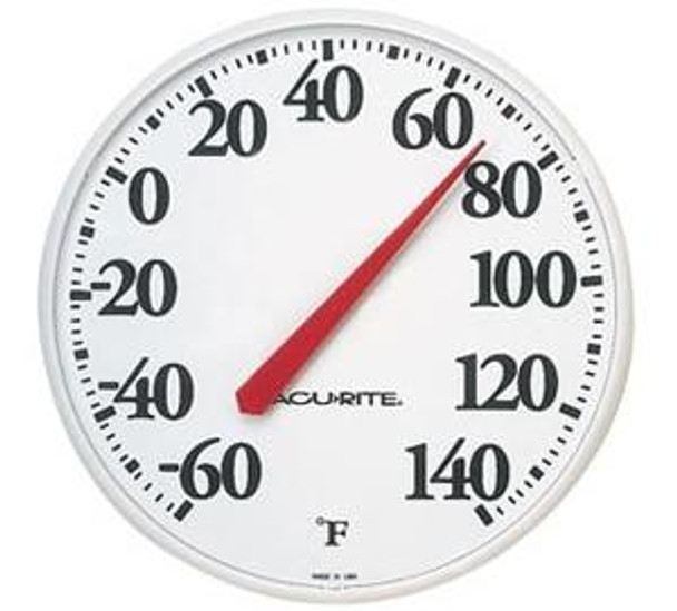 Patio Living Concepts White Outdoor Thermometer