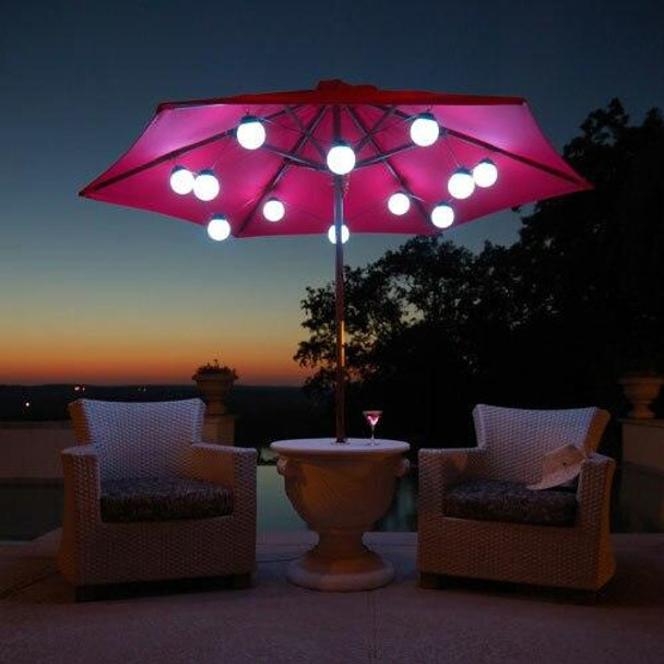 Patio Living Concepts LED Globe Umbrella Lights 8 globe lights
