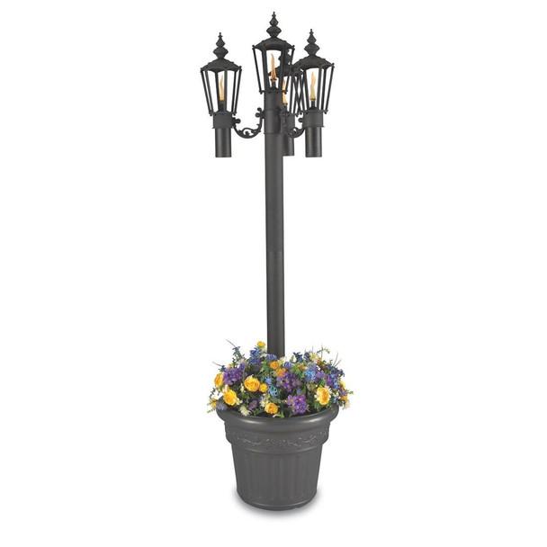 Patio Living Concepts Park Style Citronella Planter Lamp quad lamp