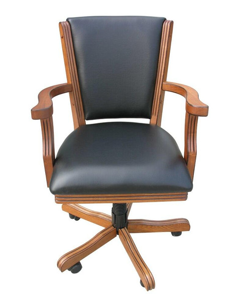 Carmelli Games and Sports Kingston Chair Set For Game Table Set of 4 Walnut
