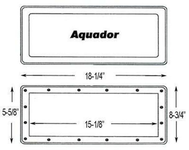 Aqua Group Inc Aquador IG Wide Mouth Skimmer Winterizing Faceplate
