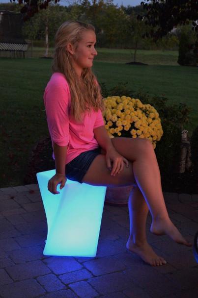 Main Access The Twist Illuminate Your Life LED Lighted Stool