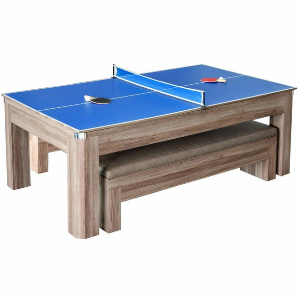 Blue Wave Newport 7-ft Pool Table Combo Set with Benches