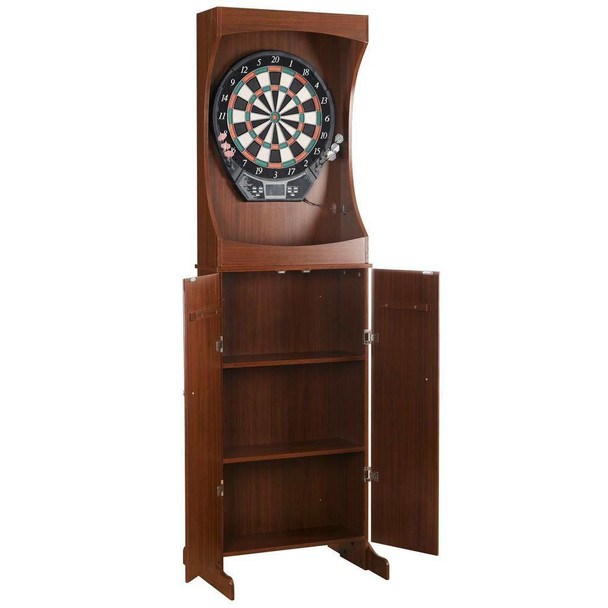 Blue Wave Outlaw Free Standing Dartboard and Cabinet Set