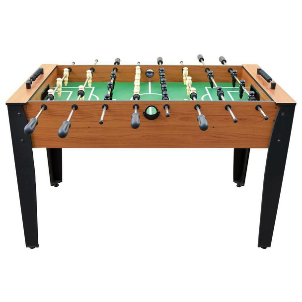Blue Wave Hurricane 54-Inch Foosball Table for Family Game Rooms with Light Cherry Finish