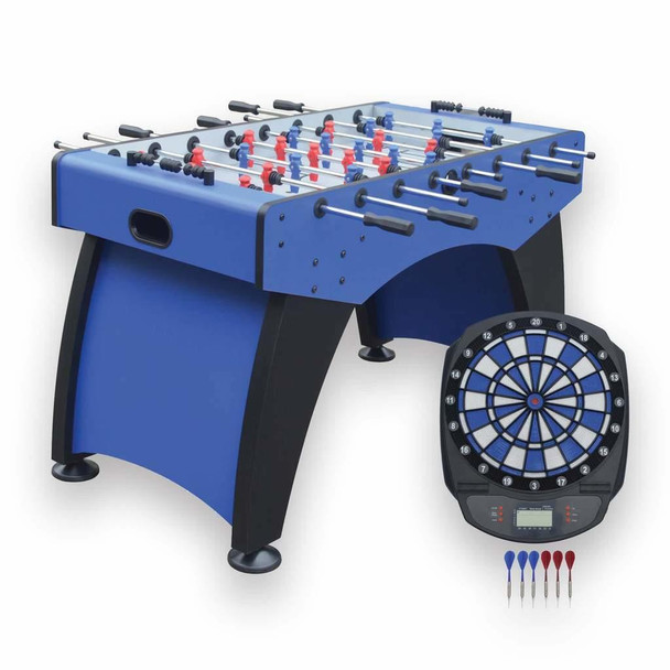 Blue Wave Ventura 55-in Foosball Table with Bonus Electronic Dart Board